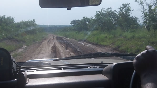 Driving through Remote areas of Uganda